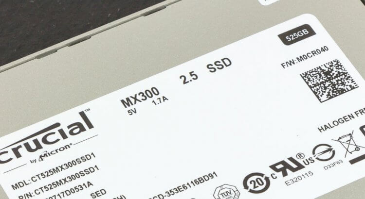 Crucial SSD MX300